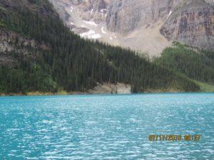 placid blue lake